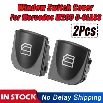 2X Window Switch Cover For Mercedes Benz W203 C-CLASS C320 C230 C240 C280 Power Window Switch Console Caps image