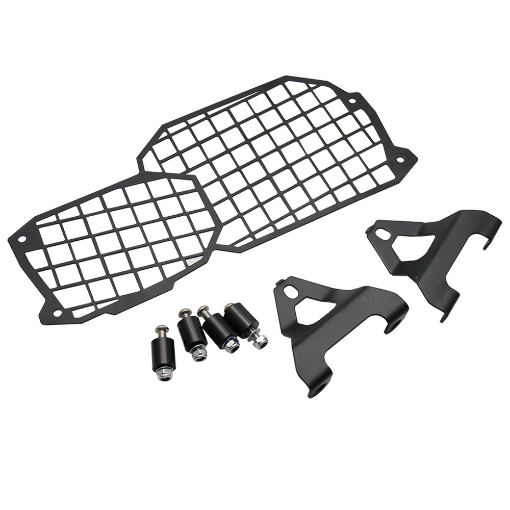 Motorcycle Black Headlight Lamp Grill Protector Guard Parts For F650GS F800GS