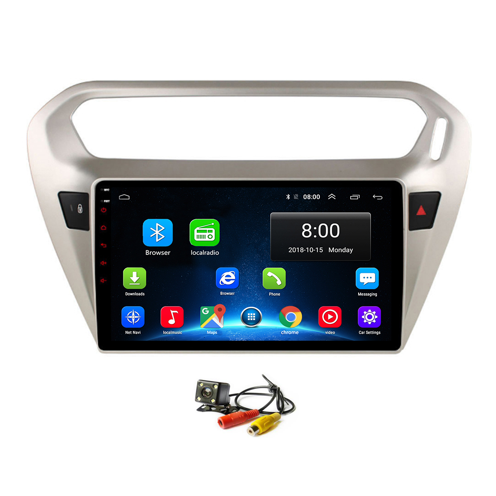 Android 8.1 Car <font><b>GPS</b></font> Navi <font><b>for</b></font> <font><b>Peugeot</b></font> <font><b>301</b></font> Citroen Elysee 2014+ Head Unit Player Multimedia Radio Bluetooth WIFI Stereo Navigation image