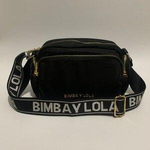 Woman black nylon handbag lady Bolso carter Billetera letter strap woman cross body bag mochila