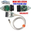 Мини VCI V15.00.028 новейшая версия чипа FTDI FT232RL, высокопроизводительный OBD SAEJ2534 для Toyota/Lexus MINI-VCI TIS Techstream
