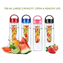 700ML Health Drinking Cup Large Capacity Fruit Infuser Water Bottle Travel Lightweight Reusable Portable Outdoor Sports Gym Yoga