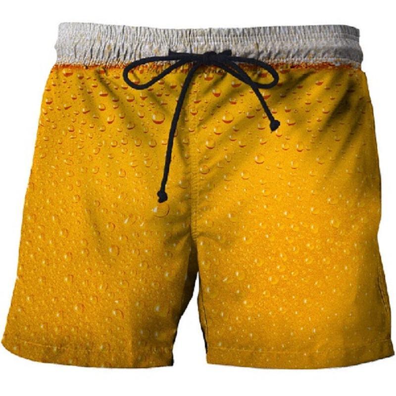 2021 summer swimming trunks 3D printing casual beach pants fitness street men's comfortable shorts fashion hip-hop sports pants 3