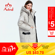 Astrid 2019 Winter new arrival down jacket women loose clothing outerwear quality with a hood fashion style winter coat AR 7038