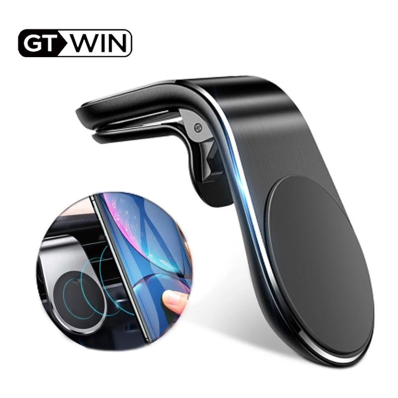 Gtwin magnético titular do telefone carro gps montagem titular clipe de ventilação ar 360 ímã de metal suporte do telefone para o iphone 12 11 pro huawei xiaomi