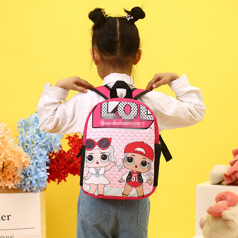 Kids Backpack Lol-Bag-Supplies School-Bag Girls Super-Mario The for Stationery Gift And