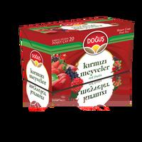 Yerli türkiye Doğuş çay poşetleri 20 (kırmızı meyveler)