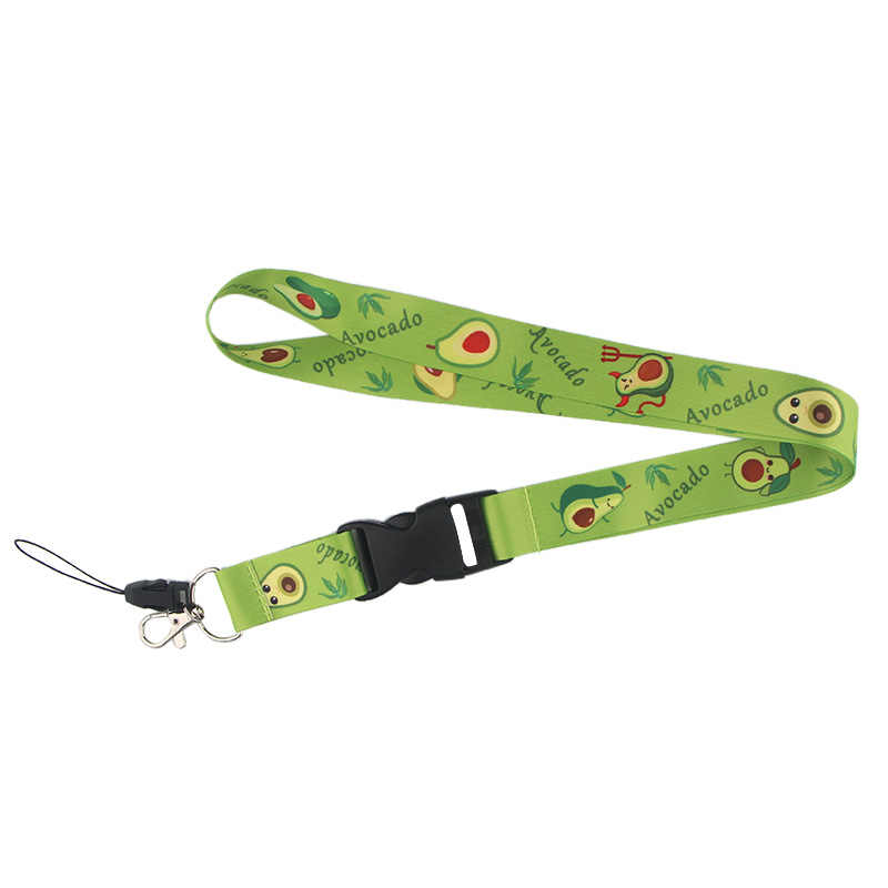 K491 Avocado Frutta Portachiavi Per portachiavi Id Pass Del Telefono Mobile USB Badge Holder Hang Rope Lariat Cordicella 1PCS