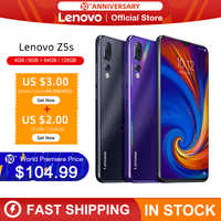 Global Version Lenovo Z5s Snapdragon 710 Octa Core 6GB 128GB SmartPhone Face ID 6.3 AI Triple Rear Camera Android P Cellphone