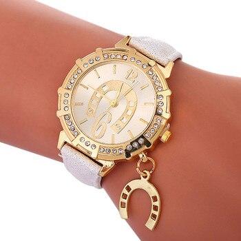 Horseshoe accessories women's watch flash strap watch luxury brand quartz watch bracelet watch  gifts for women