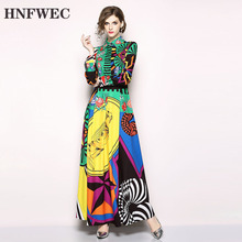 Новинка весны 2020, модная женская одежда, с отложным воротником, с длинными рукавами, с высокой талией, длинное платье, женское винтажное платье, Vestido Q303