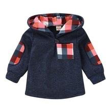 Весенне-осенняя одежда для маленьких мальчиков и девочек, толстовки в клетку для малышей, свитера, свитера, хлопковая повседневная одежда с длинными рукавами для младенцев, топы