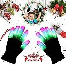 1 пара, светильник, светодиодный, мигающий, Волшебная Перчатка, светится в темноте, игрушки, светильник на палец, светильник, игрушки, теплые перчатки для детей
