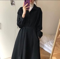 High Cold French Royal Sister Style Mature eggsshop Immortal Apathy Hong Kong Flavor Elegant Egg Dress Zi Xia over the Knee