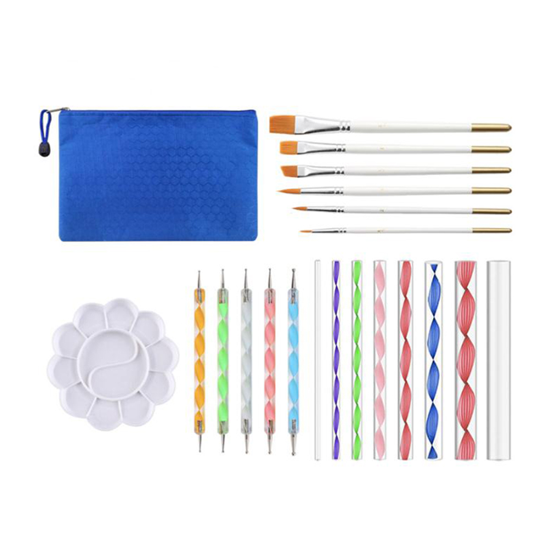 20 Pcs Mandala Rock Dotting Tools Nail Art Painting Tools Set For Art Crafts - 8 X Acrylic Rods, 5 X Double Sided Dotting Pens,
