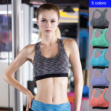 Women Sports Bra Strength Fitness Yoga Tennis Running Camouflage Bra Stretch Within Clothes  Sports Bra High Impact  Pink Bra high impact contrast color cut out sports bra in orange