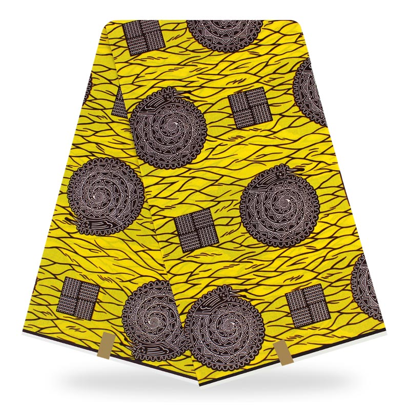 Africa Ankara Polyester Wax Prints Fabric Binta Real Wax High Quality 6 Yards 2020 African Fabric For Party Dress