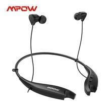 Mpow maxilas gen6 neckband fones de ouvido sem fio magnético bluetooth com 24h reprodução cancelamento ruído mic vibração lembrar