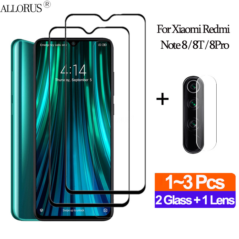 1+2Pcs Full Cover Película,Glass Redmi-note-8pro Back Armor Glass Redmi 8 Pro Xiaomi Note8 T Mi9 Lite Clear Camera Film Redmi 8t