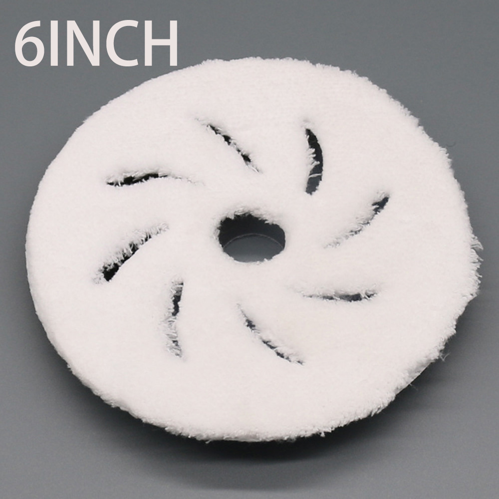 6Inch Microfiber Polishing Buffing Pads Polishing Felt Wheel For Car Polisher Durable Fiber Withstand Repeated Usage And Wash