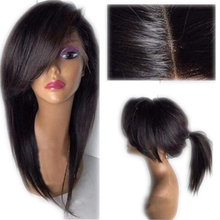 Eversilky 13x4 Lace Front Wig With Bangs Baby Hair Pre Plucked Remy Straight Full Lace
