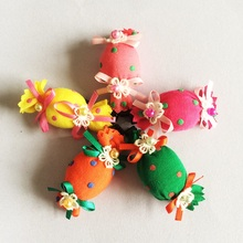 1 Pcs/lot Fashion Boutique Dot Candy Hair Clip Girls Knitted Flower Hairpins Kids Ribbon Accessories