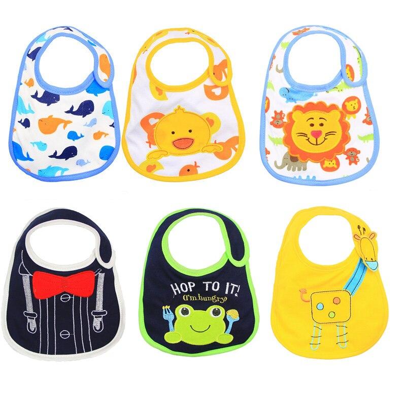 Hzirip babadores do bebê bonito dos desenhos animados padrão da criança do bebê à prova dwaterproof água saliva toalha de algodão caber 0-3 anos de idade infantil arroto panos alimentação