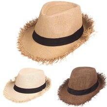 夏わら帽子高品質太陽の帽子夏抗ジャズ帽子無地通気性ラフィアわら帽子屋外旅行太陽の帽子