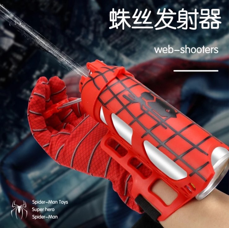 Spider's Man Spider Silk Launcher Toy Spinning Spray Glove Manual Boyfriend Gift
