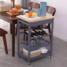 Étagère à trois couches avec tiroir amovible à manger chariot Portable maison cuisine étagère Portable multifonction étagère de rangement HWC