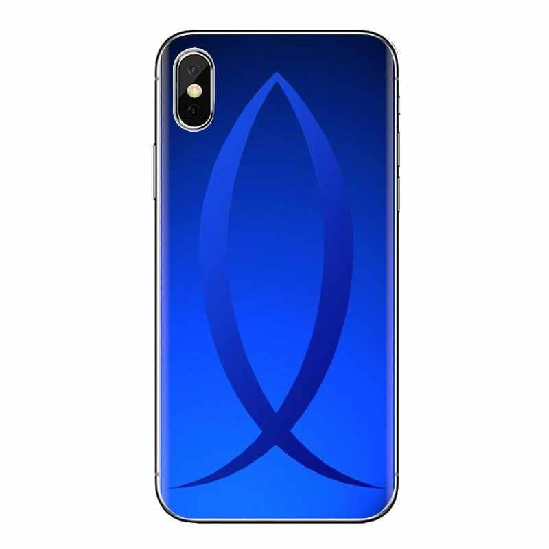 クリスチャンのクロス魚のシンボルアート透明 TPU Huawei 社メイト名誉 4C 5C 5 × 6 × 7 7A 7C 8 9 10 8C 8 × 20 Lite プロ