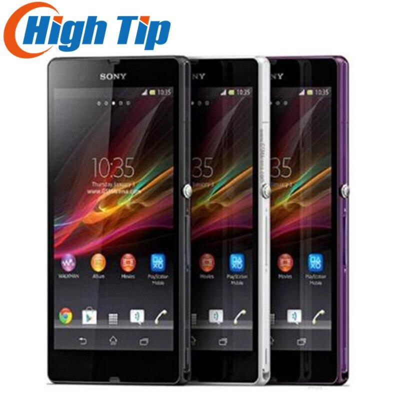 Разблокированный оригинальный мобильный телефон Sony Xperia Z L36h C6603 3G и 4G мобильный телефон 5,0 дюйма четырехъядерный 2G RAM 16GB ROM 13.1MP камера