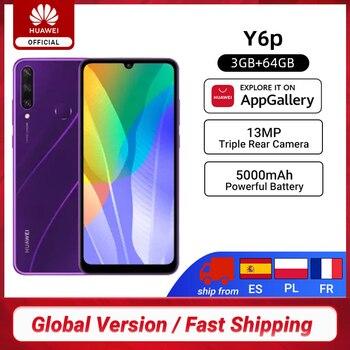 Перейти на Алиэкспресс и купить Новая глобальная версия Huawei Y6p смартфон, 3 Гб оперативной памяти, 64 ГБ 6,3 дюймDewdrop дисплей 13MP тройной задней камеры EMUI 10,1 мобильные телефоны 5000 мАч