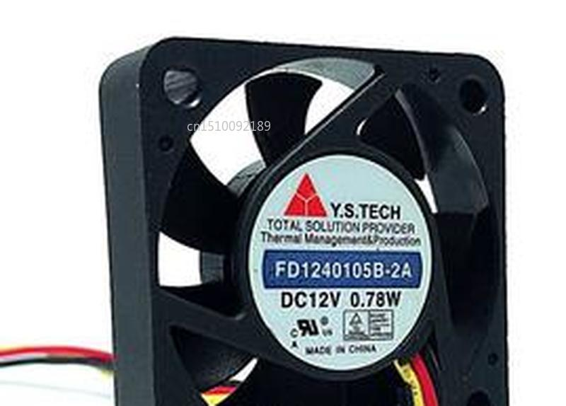 For FD1240105B-2A Server Cooler Fan DC 12V 0.78W 40x40x10mm 3-wire Free Shipping