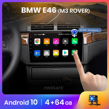 AWESAFE PX9 auto Radio Multimedia reproductor de video GPS No 2 din Android 10 para BMW M3 E46 Rover 75 MG ZT Control de voz