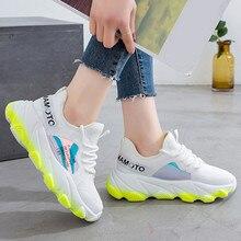 Women Sneakers Breathable Mesh Green Platform Ladies Shoes S