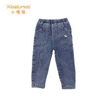 Бархатные джинсы для девочек детские Демисезонные брюки Одежда