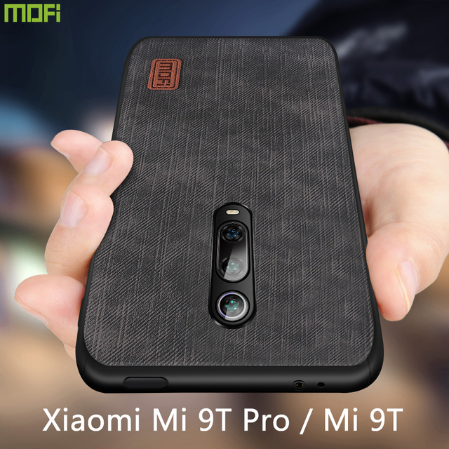 Mofi For Xiaomi Mi 9T Pro Case Luxury Silicone Back Cover Mi9T Phone Case For Redmi K20 Silicone shockproof jeans PU leather