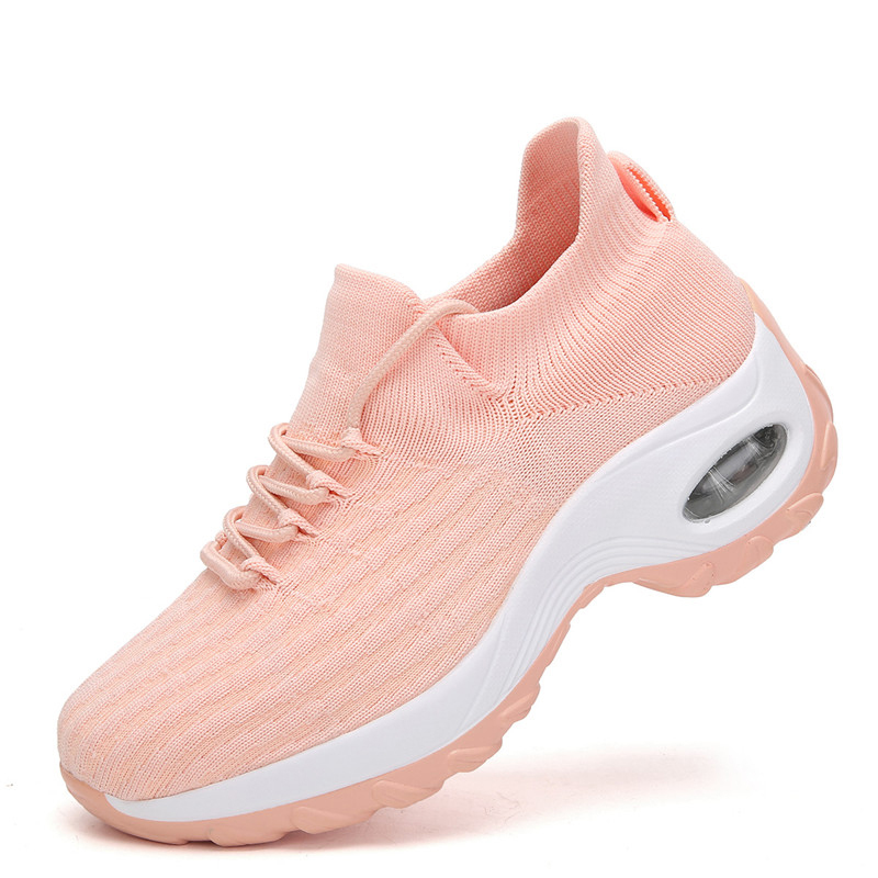 2020 Air Cushion Women's Sneakers Comfortable Breathable Mesh Running Shoes Outdoor Casual Slip Sports Shoes Big Size 35-42
