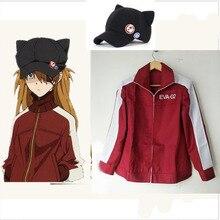 Anime EVA Asuka Langley Soryu Cosplay Costume Hoodie jacket coat Tailor Made