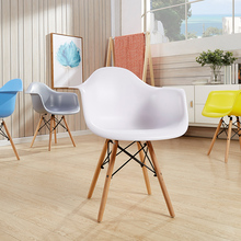 Nordic fashion restaurant dining chair restaurant family bedroom learning lounge chair office meeting solid wood plastic chair все цены