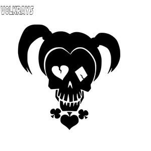 Модная Автомобильная наклейка Volkrays, аксессуары для самоубийц, мотоциклов, отражающая Солнцезащитная виниловая наклейка, черный/серебристы...