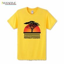 Vintage Retro design Tees Hakuna Matata T shirts men Lion King Simba T-shirt boys casual hollywood tee shirt kids cartoon tshirt