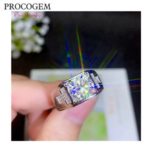 PROCOGEM Brilliant Moissanite แหวน 1 2 3ct VVS ที่ยอด(China)