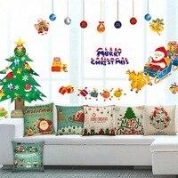 30Pcs Merry Christmas Santa Claus Polyester Linen Throw Pillow Cushion Cover Car Home Sofa Decorative Pillowcase Xmas Decor