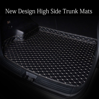 Custom fit car trunk mats for Ford Edge U387 Fusion Mondeo Focus Explorer Ecosport waterproof heavy duty carpet rugs liners