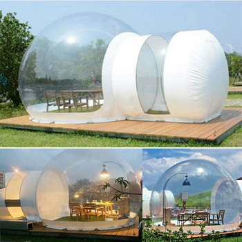 Inflatable clear Tent House,Inflatable Bubble Tent ,Rainproof Foam Air Dome Tent, Suitable for Outdoor Camping, Backyard factory inflatable bubble camping tent with double rooms waterproof photobooth bubble sleeping tents inflatable clear dome tent