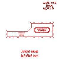 Wargame Base World - combat gauge - measure tooling - Battle gauge -1x2x3x6 inch