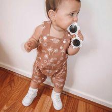 Jumpsuit Suspenders Kids Overalls Baby-Girls Short-Pants Toddler Boys 3-Years Summer