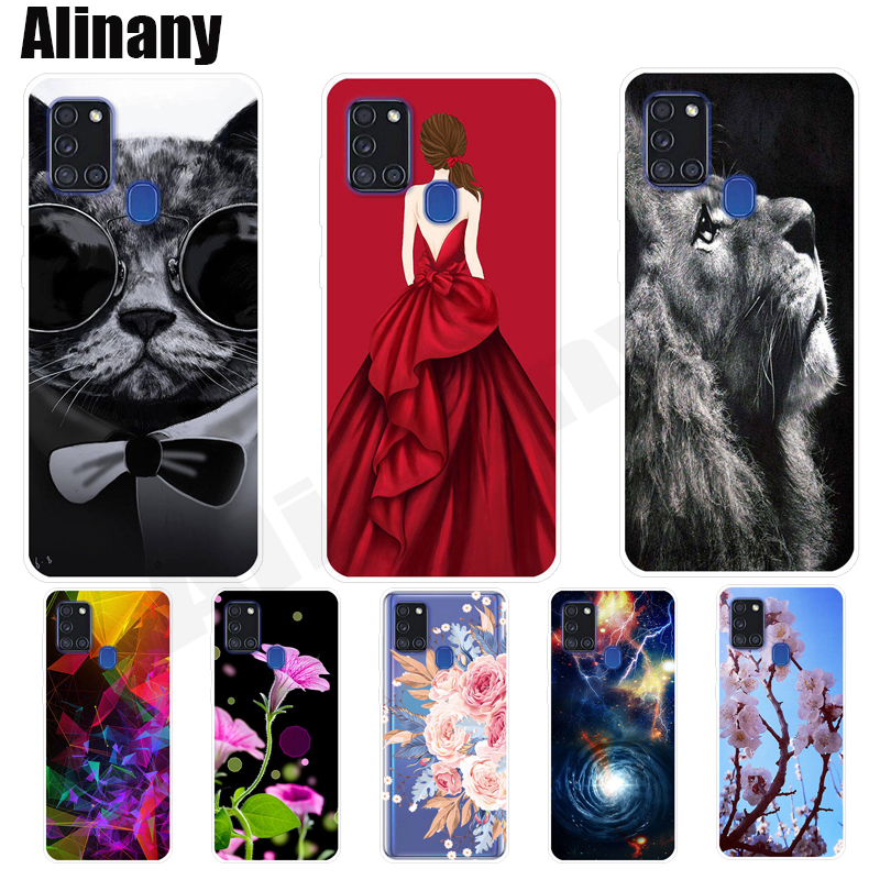Soft Case For Samsung A21S Cover Painted Silicone TPU Phone Case For Samsung Galaxy A21S A217 A217F SM-A217F Case 6.5 Inch